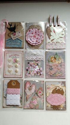 Pocket Letters ❤ TILDA inspired Pocketletter made by me. Atc Cards, Card Tags, Paper Cards, Journal Cards, Pocket Pal, Pocket Cards, Scrapbook Paper Crafts, Scrapbook Cards, Diy Crafts For Girls