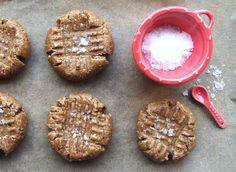 Salted Peanut Butter Cookies // Raw, Vegan + Gluten Free