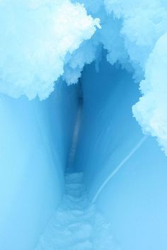 Ice Cave in Erebus Glacier Tongue ~ McMurdo Sound, Ross Island, Antarctica