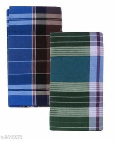 Dhotis, Mundus & Lungis Men's Cotton Lungis (Pack Of 2) Fabric: Cotton Size: 2.25 Mtr Description: It Has 2 Pieces Of Men's Lungis Pattern: Checkered  Sizes Available: Free Size *Proof of Safe Delivery! Click to know on Safety Standards of Delivery Partners- https://ltl.sh/y_nZrAV3  Catalog Rating: ★4.1 (864)  Catalog Name: Trendy Men's Cotton Lungis Combo Vol 4 CatalogID_353285 C66-SC1204 Code: 403-2615073-
