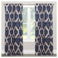 Window Curtain Panels Medallion Blue : Target