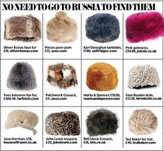 Best fluffy Russian hats from the High Street