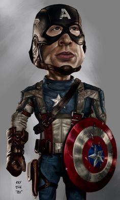 "Avengers ""Captain America "" Caricature by Rey Esla Teo"