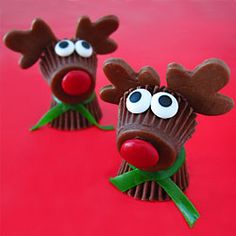 Reese's Cup Rudolph the Red Nose Reindeer Treats for Christmas