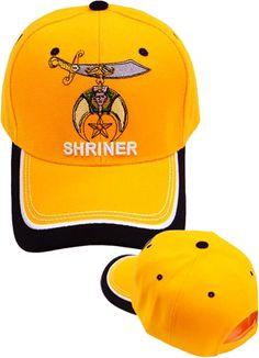 Shriner Hat Orange Baseball Cap with Logo Associated with Freemasons  Shriners Prince Hall Masons Lodge Headwear c2c64e5258ea