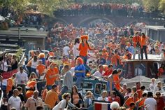 April 30, Queen's Day in Amsterdam