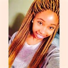 cute box braids with color