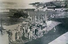 Construcción de la Piscina del Morro en San Juan, Puerto Rico, año 1926.