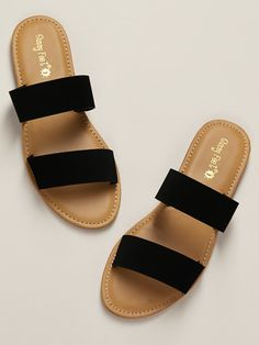 Check out this Slip On Open Toe Flat Slide Sandals on Shein and explore more to meet your fashion needs! Shoes Flats Sandals, Slipper Sandals, Gladiator Sandals, Leather Sandals, Flat Sandals Outfit, Open Toe Flats, Stylish Sandals, Fashion Sandals, Girls Shoes