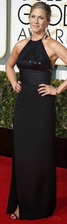 Jennifer Aniston in Saint Laurent ♥✤ Golden Globes 2015   LBV
