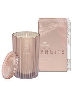 Ecoya Sweet Fruits Candle. They did very well with the design for Christmas this time, the jar is so pretty