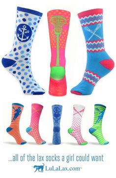 All of the lacrosse socks a girl could want! Lacrosse Socks, Lacrosse Gear, Girls Lacrosse, Lacrosse Sport, Baseball Socks, Sport Basketball, Basketball Pictures, Basketball Shoes, Basketball Drills
