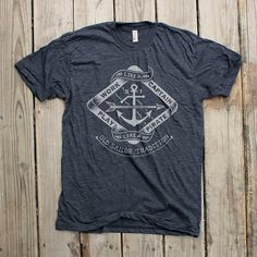 Play like a Pirate  Mens Heather Black Tshirt  Large by Monorail, $26.00
