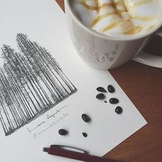 Perdernos en las ilustraciones de @lalauri es mmmm #Regram.  Sube tu #Mmmacchiato Link del concurso en la bio! by starbucks_es