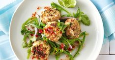 Serve these prawn cakes with a healthy does of snow pea salad for a balanced meal.