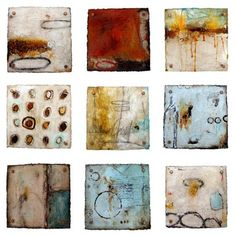 michelle y williams - cut series |  mixed media on torched metal  floated in plexiglas 15x15 each