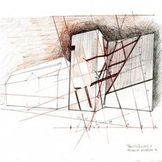 Berlin Museum by Daniel Libeskind Architecture Sketchbook, Architecture Graphics, Architecture Design, Daniel Libeskind, Berlin Museum, Deconstructivism, Model Sketch, Jewish Museum, Drawing Skills