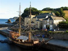 Charlestown, Cornwall. The television series 'Poldark' and 'The Voyage of Charles Darwin' were partly filmed here.