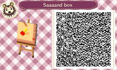 Animal Crossing QR Codes ❤ Sand Box Lower Right  Corner Corner Tile#4