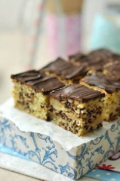 Hungarian Desserts, Hungarian Recipes, Sweet Recipes, Cake Recipes, Dessert Recipes, Sweet Cookies, Cake Bars, Sweet And Salty, No Bake Cake