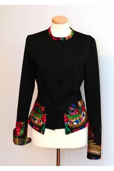 Discover thousands of images about Urban Jacket Folk Jacket Bohemian Jacket Ethnic Jacket Ethnic Fashion, Diy Fashion, Fashion Outfits, Womens Fashion, Fashion Design, African Dress, African Fashion Dresses, Russian Fashion, Blouse Designs