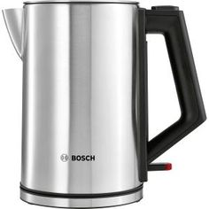 Bosch Stainless Steel Kettle. It has a automatic shut-off function means the kettle switches itself off as soon as it's finished boiling. It will also switch off automatically when removed from the base. Comes with 2 Years Guarantee.