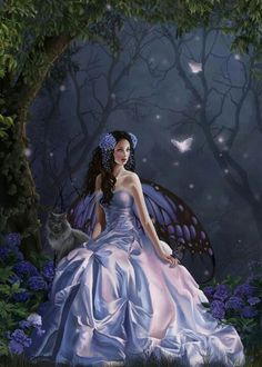 Purple Butterfly Fairy