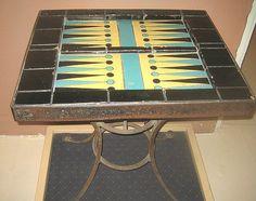 Catalina Pottery tile backgammon table