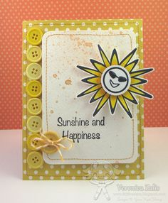 """I created this card using the Your Next Stamp July New Release stamp set """"Sun Hat""""."""