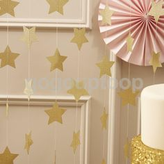 13Ft GOLD 7cm Star Garland Bunting Wedding Birthday Party Hanging Decoration in Home, Furniture & DIY, Celebrations & Occasions, Party Supplies | eBay