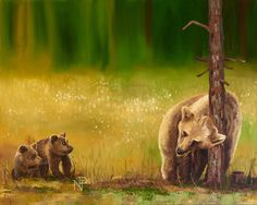 Bears | 2016 | 100 x 80  | oil on canvas Author - Natalia Pivkina art.pivkina.com