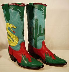 custom made cowboy boots for the pilot of Gene Autry's plane.
