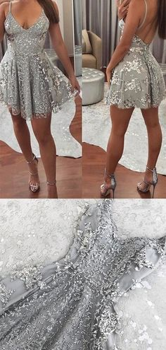 Sexy Deep V Neck Spaghetti Straps With Sequins Homecoming Dress · ModelDressy · Online Store Powered by Storenvy Cheap Short Prom Dresses, Cute Dresses, Casual Dresses, Girls Dresses, Formal Dresses, Long Dresses, Looks Party, New Years Eve Dresses, Women's Fashion Dresses
