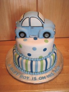 car baby shower themes for boys | Labels: 3-D Cakes , Baby Showers
