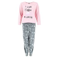 Women's Plus Size I Like Coffee A Latte Long Pajama Set by Elegant Emily | Plus Size Pajamas at BeltOutlet.com Plus Size Pajamas, Plus Size Fashion For Women, Pajama Set, Like Me, Latte, Sweatpants, Coffee, Elegant, Shopping