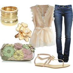 Summer nights, created by nickirock on Polyvore