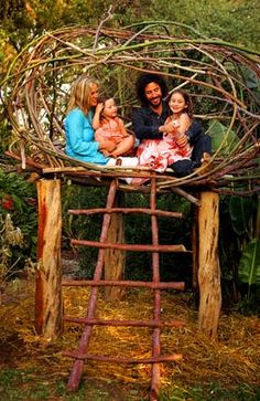 #outdoor #treehouse #kidsareawesome
