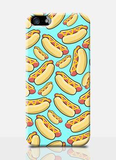 HOT DOG mobile phone case. Available on: iPhone 4, iPhone 5, Samsung S3, Samsung S4. By TheSmallPrintCases, £10.99 #fundas #móviles #originales