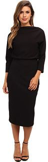 THE PERFECT WINTER LBD...Badgley Mischka Boatneck Dress