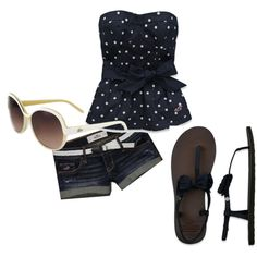 It's a Hollister Summer, created by elizabethnrose on Polyvore