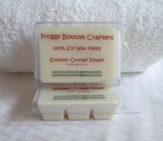 Summer Orange Flower 100 Soy Wax Melts Soy by FroggyBottomCrafters, $3.00