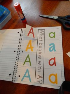 living worldsapart: Letter A Interactive Notebook Pages - free printable pages
