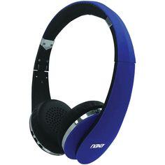 NAXA NE-941 BLUE NEURALE Bluetooth(R) Wireless Stereo Headphones with Microphone (Blue)