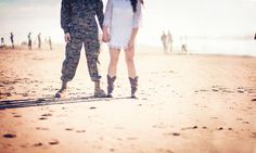 Beach Session | Beach Poses | Beach Couple Photoshoot | Camouflage Engagement | Cowboy boots | Engagement Beach Poses | Rubidia C Photography