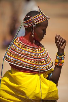 Africa | Samburu woman.  Samburu District, Kenya | ©Robin Moore