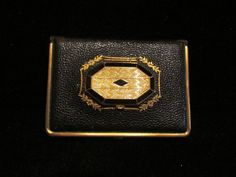 1920s Leather Compact Mondaine Book   the middle lid is for rouge...so cool!