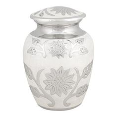 Amazon.com: Perfect Memorials Small Pearl Blossom Brass Cremation Urn: Home & Kitchen