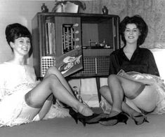 "Girls with Records""....Jane Rennie and Lesley Peters UK early (1960's)"