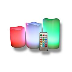 4-Piece Set: Vanilla-Scented Color-Changing Flameless Candles with Remote Control