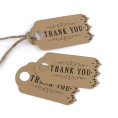 Add these adorable vintage styled kraft wedding party favor thank you tags to whatever your heart desires. Show your thanks by adding it to table goods, wedding favors and wedding welcome bags. The el